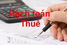 hạch toán thuế gtgt phải nộp - được khấu trừ