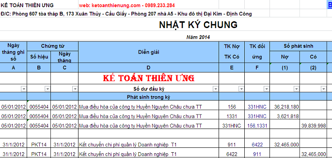 huong dan excel tai chinh