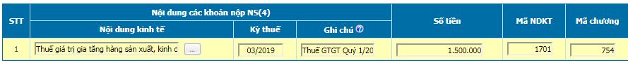 Nộp tiền thuế GTGT qua mạng điện tử