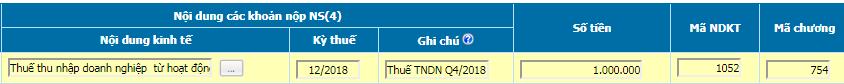 Nộp tiền thuế TNDN qua mạng điện tử