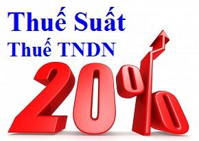 thuế suất thuế TNDN 2014