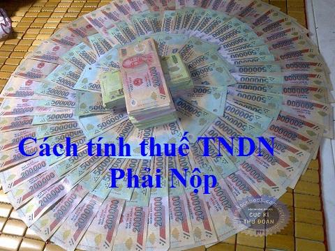 cách tính thuế TNDN tạm tính quý