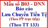 Báo cáo lưu chuyển tiền tệ theo phương pháp trực tiếp theo TT 133